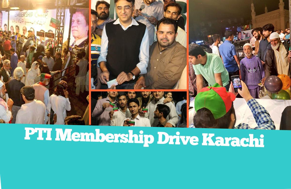 PTI Karachi Membership Drive