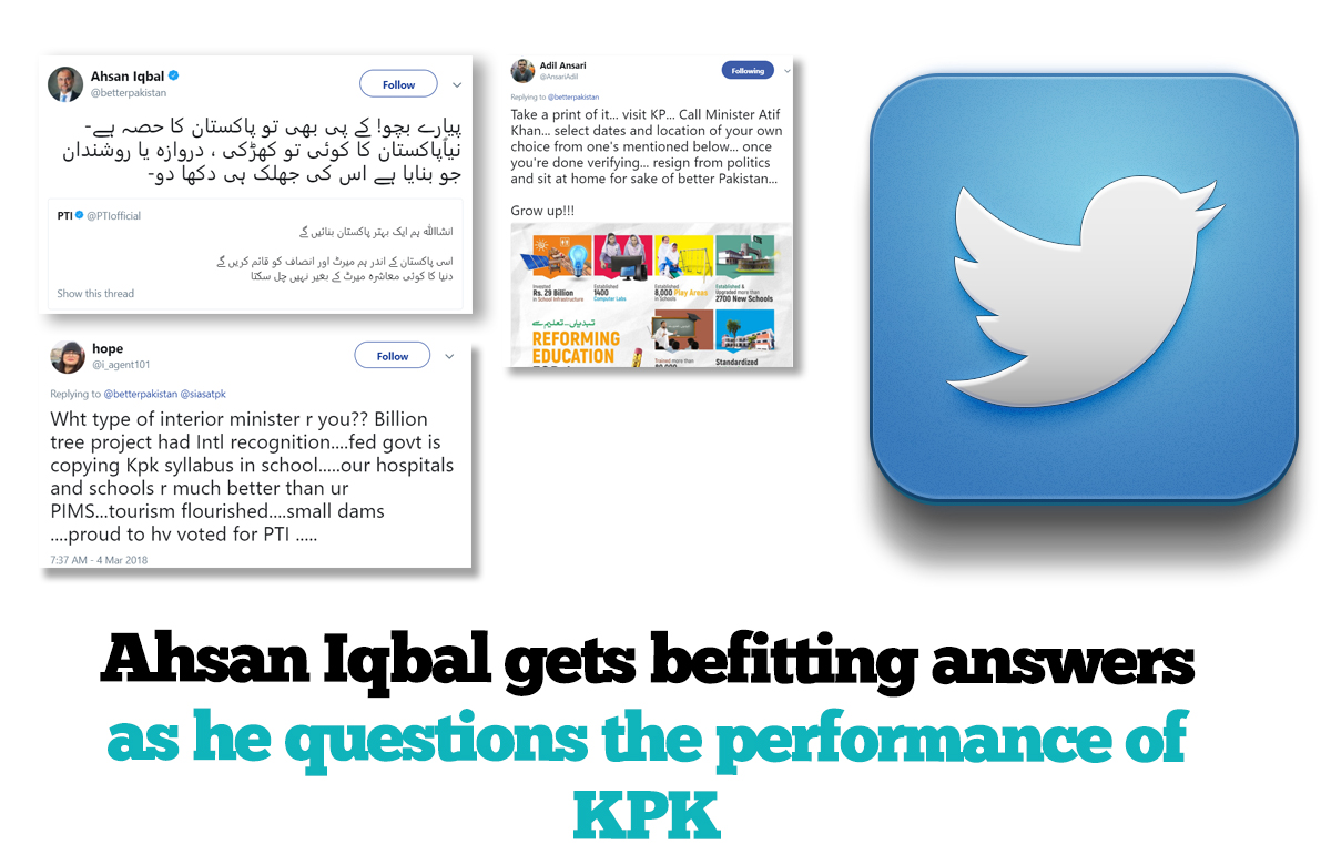 Ahsan Iqbal gets befetting replies on his question on KPK