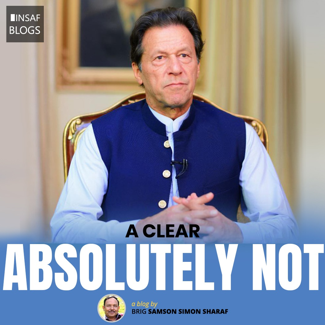 A Clear Absolutely Not - Insaf Blog