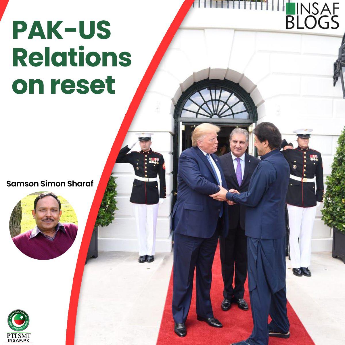 Pak US Relation Reset Insaf Blog