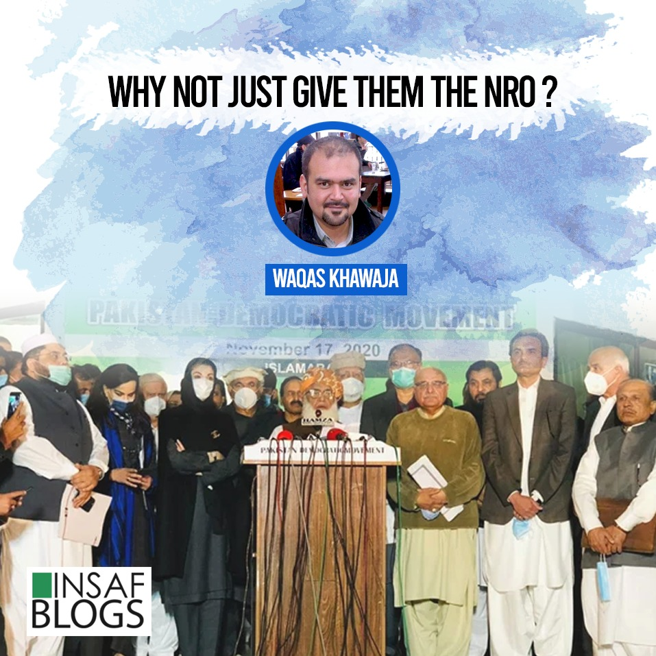 Why Not Just Give Them The NRO - Insaf Blog